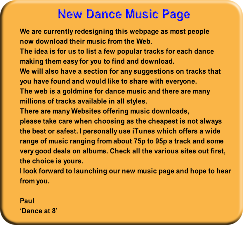 New Dance Music Page